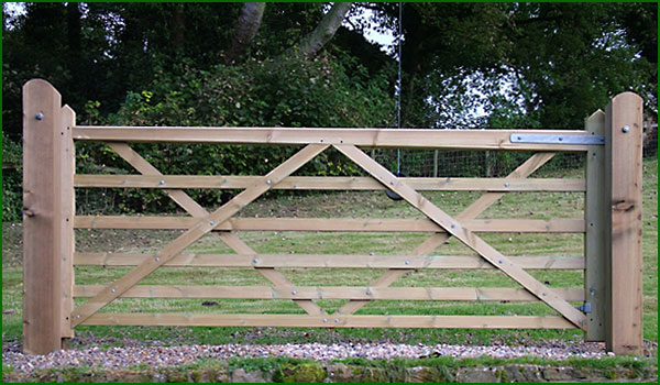 14 Ft Wooden Field Gate Timber Gates Uk Field Gates New